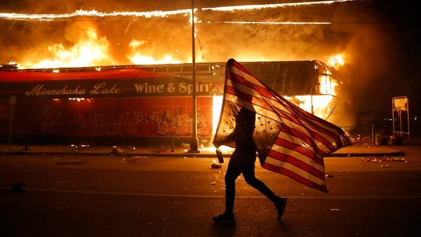 George-Floyd-Rioters-Burn-Down-Police-Building-As-Protests-Spread